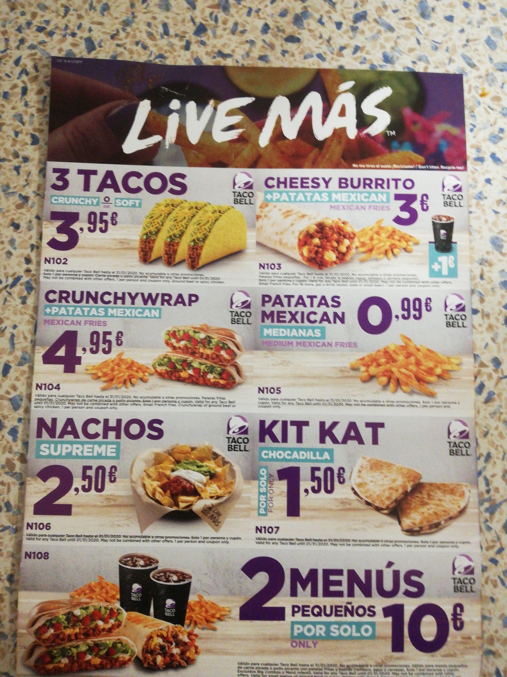 Taco bell ofertas