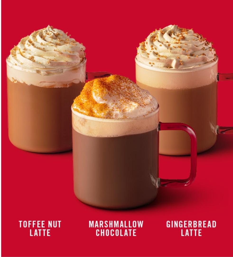 [Starbucks] Bebidas de Navidad GRATIS para socios PLATINO