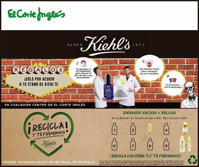 Limpieza facial y 3 muestras gratis en los stands de Kiehl's en ECI