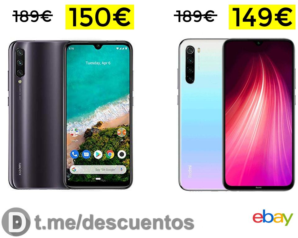 Preciazos Note 8 64GB España y Mi A3 128GB Europa