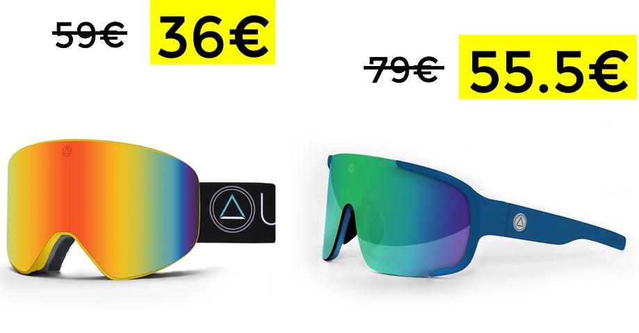 Gafas Uller esquí y snow 36€ y ciclismo 55€