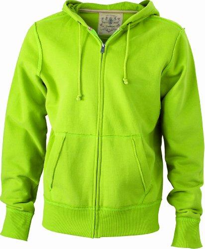 TALLA M - James & Nicholson Men's Vintage Hooded Sweatshirt Sudadera para Hombre