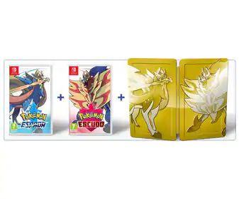Pokemon Espada y Escudo Edición Dual + Steelbook + Figura 3 iniciales