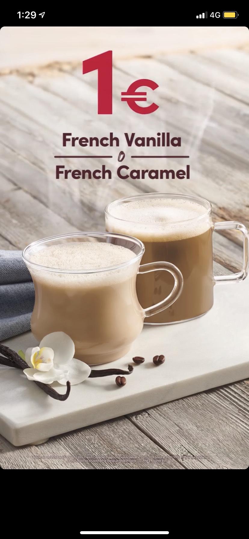 FRENCH VANILLA o FRENCH CARAMEL 1€