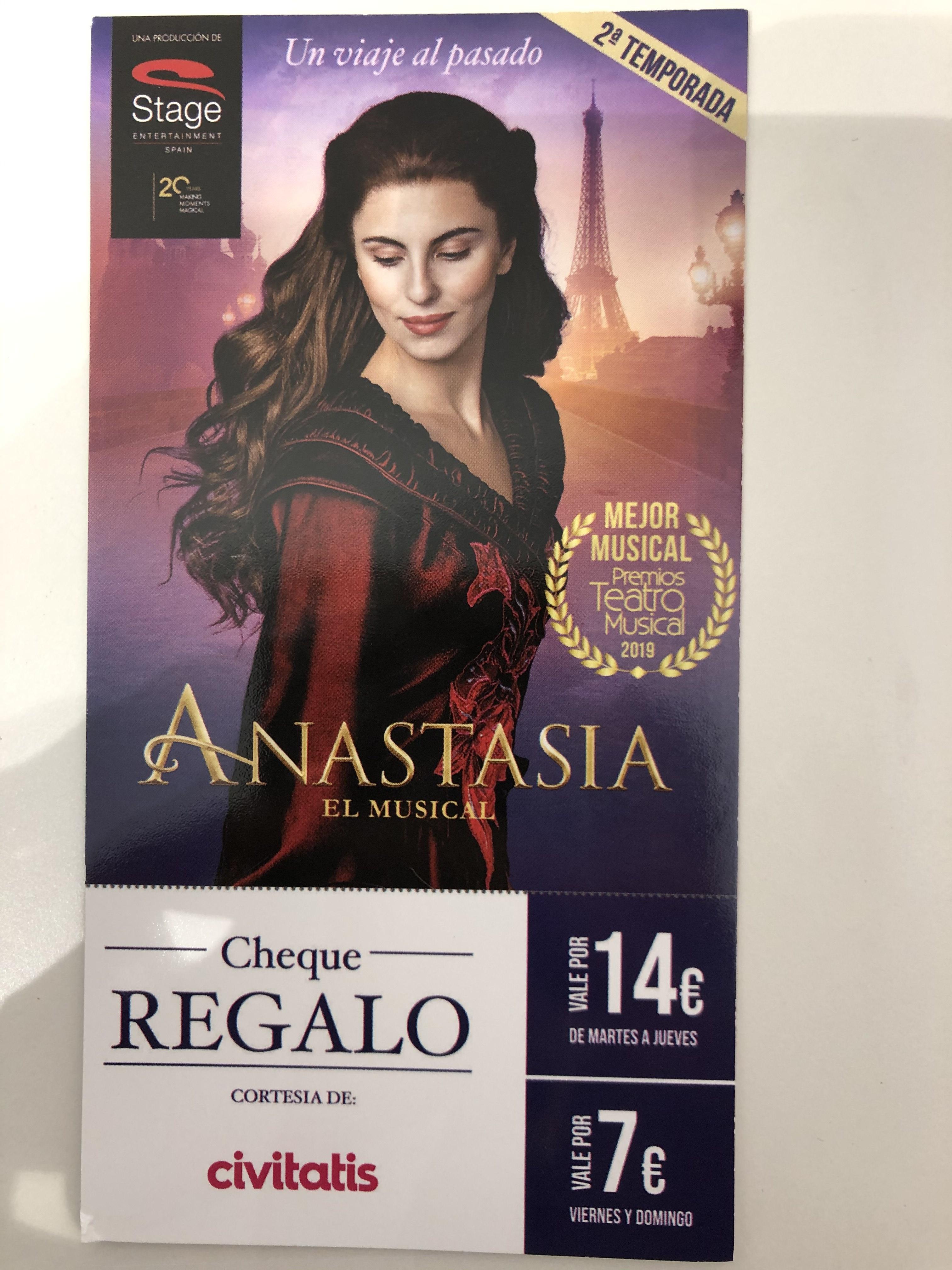 Descuento musical Anastasia.