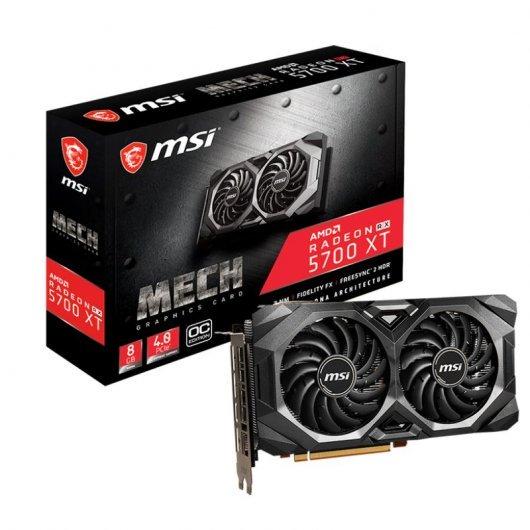 MSI Radeon RX 5700 XT Mech OC 8GB + 25€ Steam+1 juego+3 meses Xbox game pass