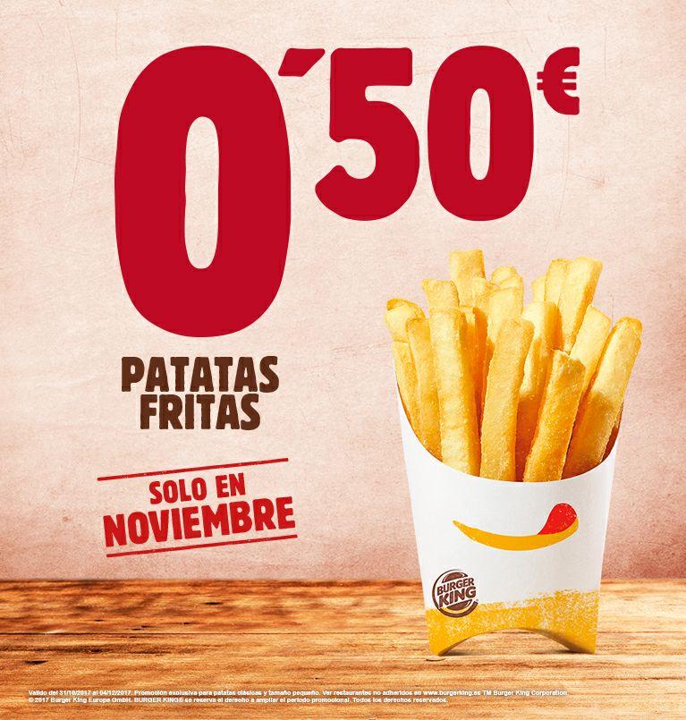 PATATAS FRITAS 0,50€ SOLO NOVIEMBRE