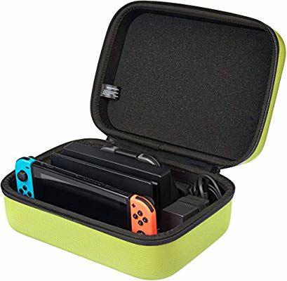 AmazonBasics - Estuche rígido de transporte y almacenamiento para Nintendo Switch
