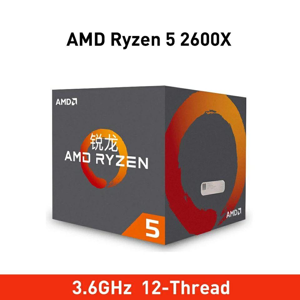 Ryzen 5 2600X 3,6 GHz 6-Core 12-Hilos