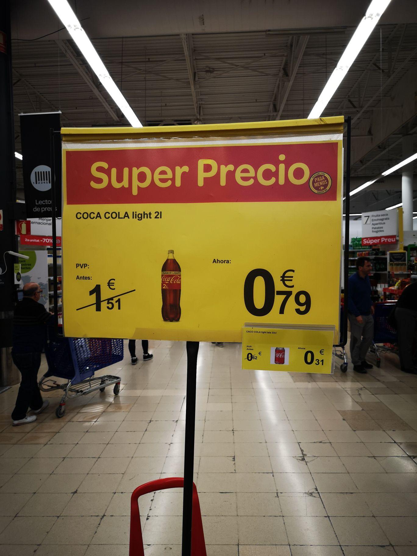 Coca-Cola Light 2L (carrefour de Tarragona)