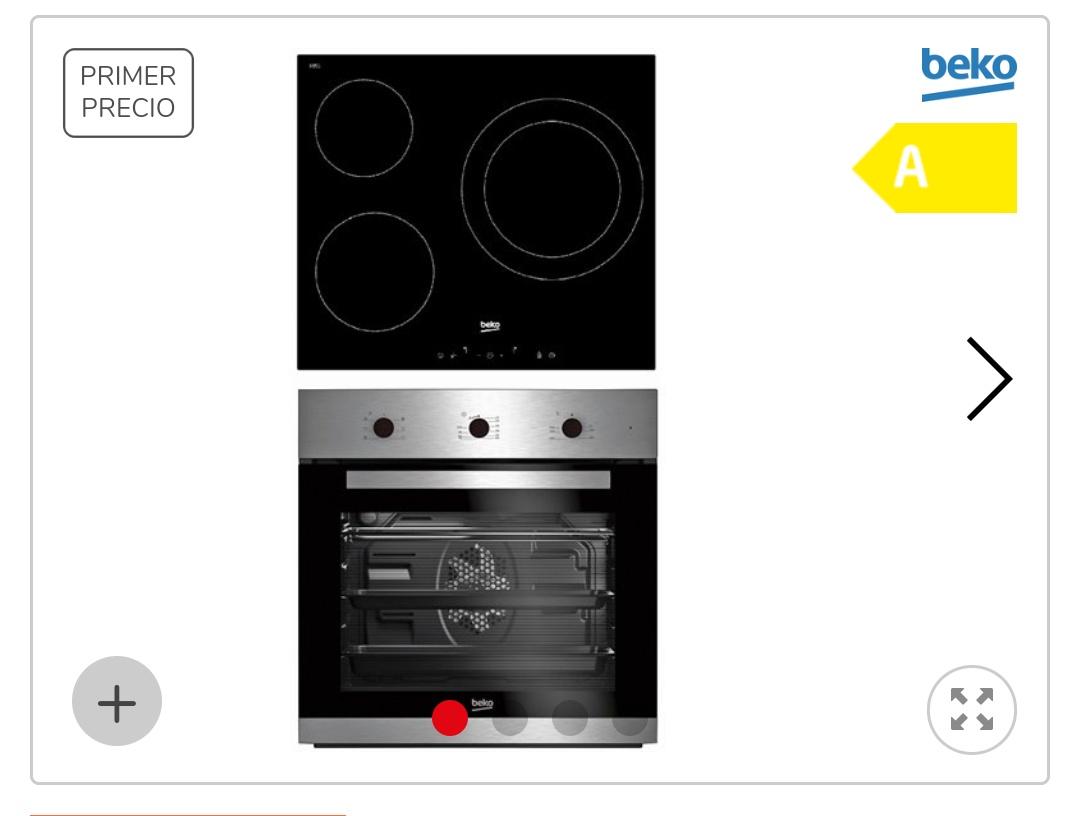 Conjunto horno y vitrocerámica BEKO