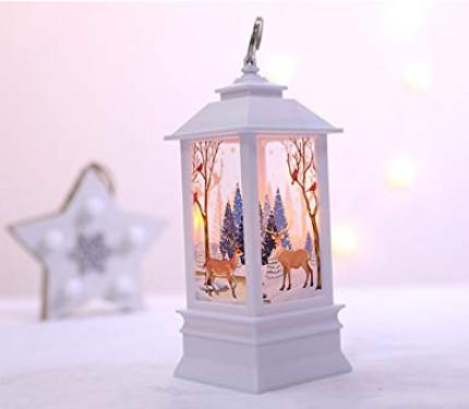 Farolillos LED con escenas navideñas por 2,09€