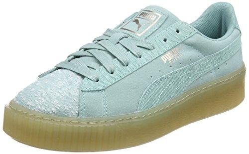 TALLA 40 - PUMA Suede Platform Pebble, Zapatillas para Mujer