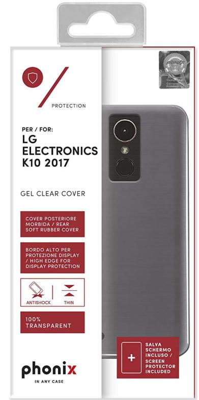 (PLUS) Phonix LGK17GPW - Carcasa Gel para LG K10 2017, Transparente (REACO)