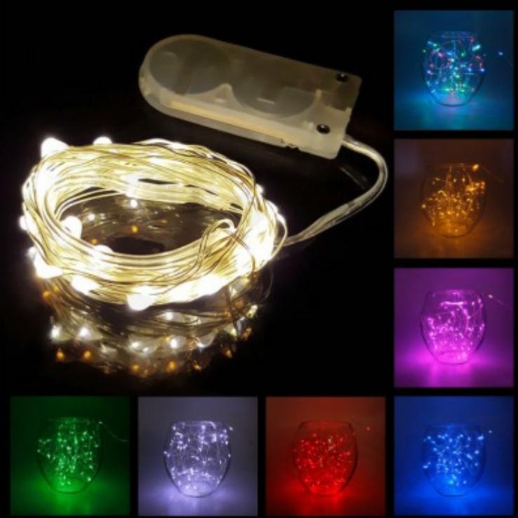 1M Waterproof 10-LED String Lights Rope - Random Color