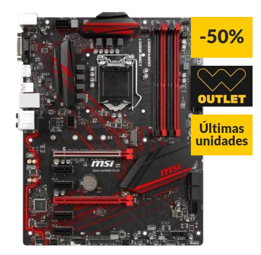 Placa Base MSI B360 Gaming Plus