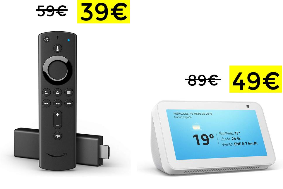 Minimazos históricos Fire TV 4K Alexa y Echo Show 5