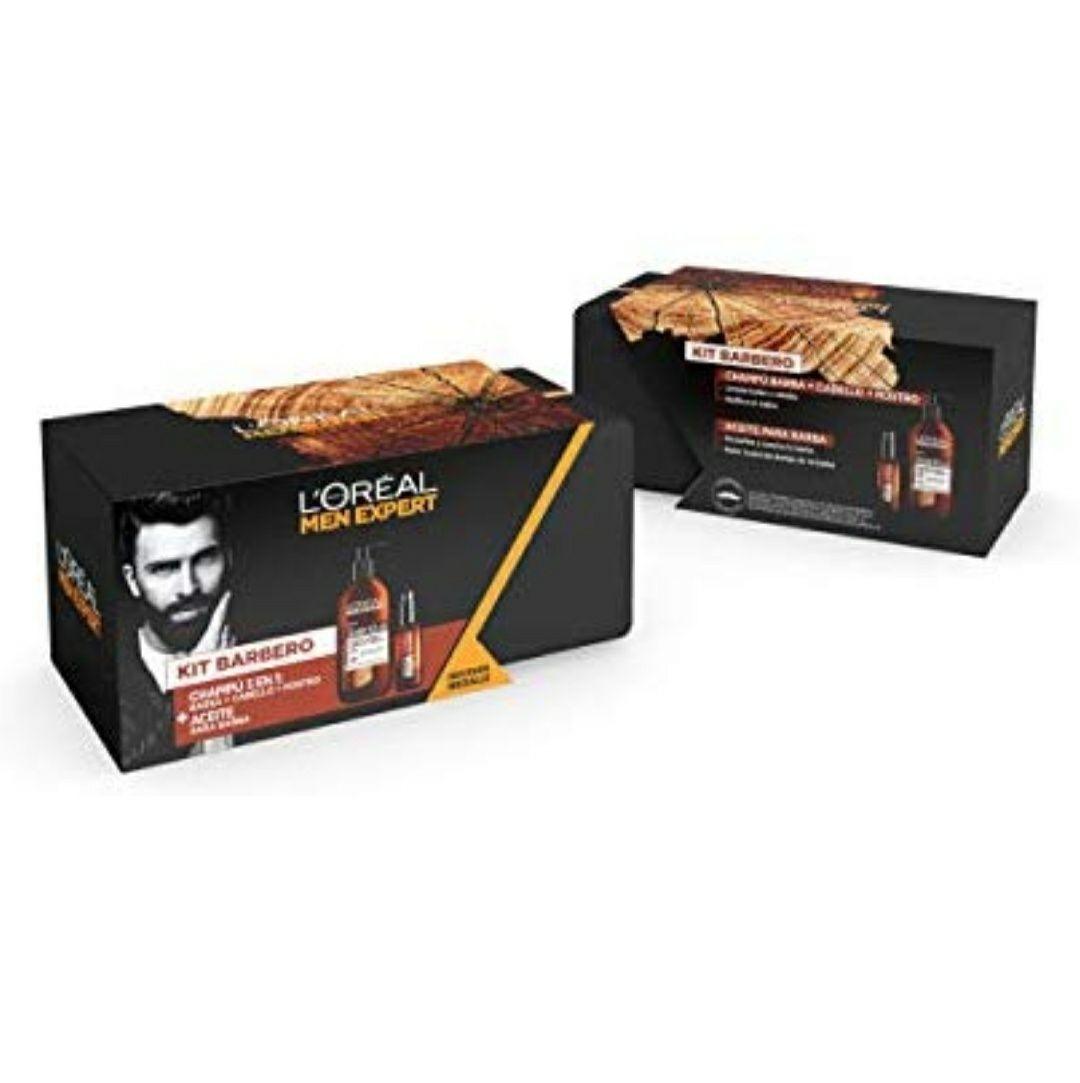 Pack L'Oreal barbudo: aceite de barba + champú de barba + neceser de regalo