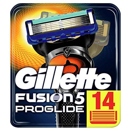 Gillette Fusion5 ProGlide - Cuchillas de Afeitar, 14 Recambios