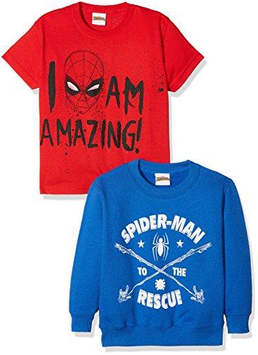 TALLA 6 AÑOS (PACK 2) - FABTASTICS Camiseta + Sudadera Spiderman para Niños,