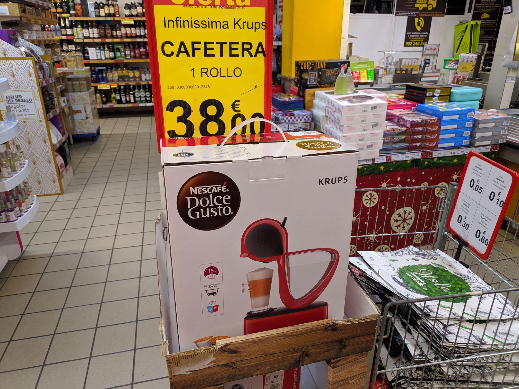 Cafetera dolce gusto krups (Supersol Torremolinos)
