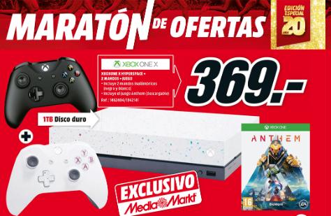 Xbox one x hyperspace + 2 mandos + codigo juego.