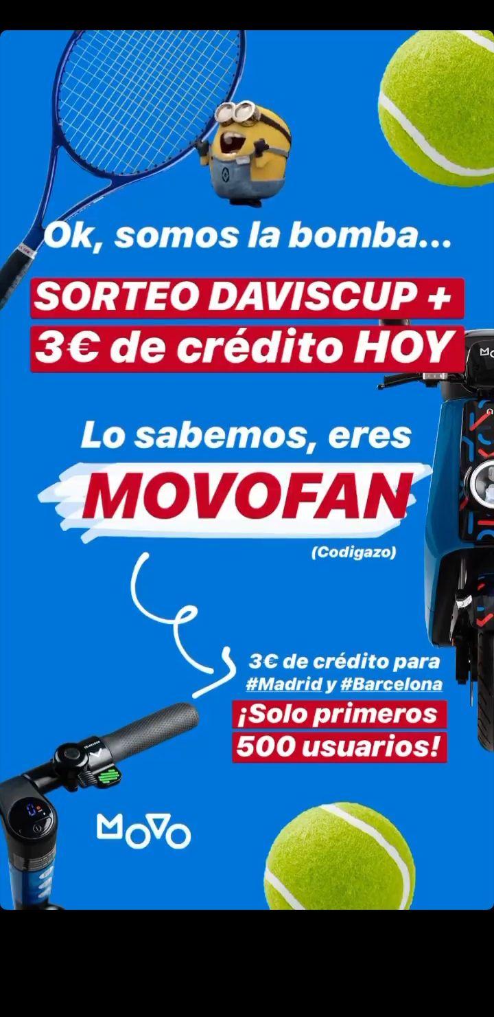 3€ para movo (sólo Madrid y Barcelona)