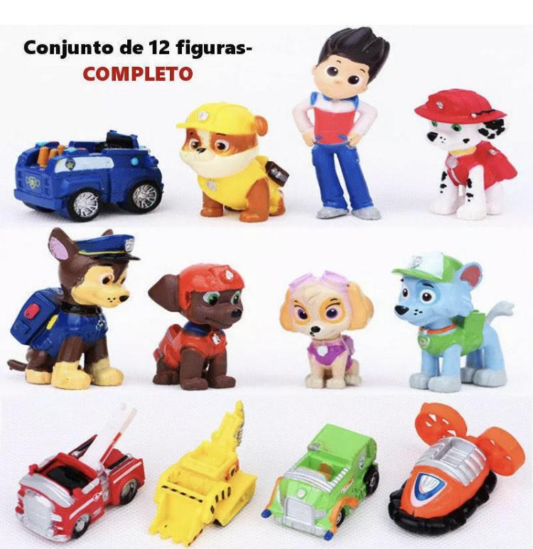 PACK 12 Figuras Patrulla Canina / PVC / juguetes / Chase, Marshall, Skye...
