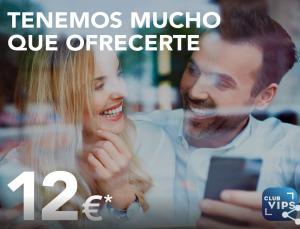 12€ descuento en Vips (consumo mínimo 24€) desde la app (Cuentas seleccionadas)