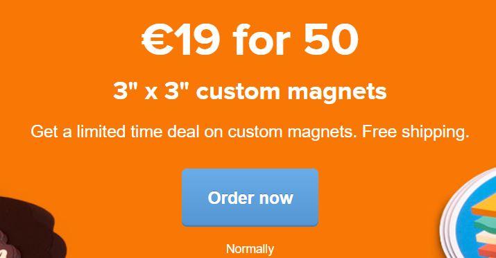 50 Imanes Personalizados por 19€