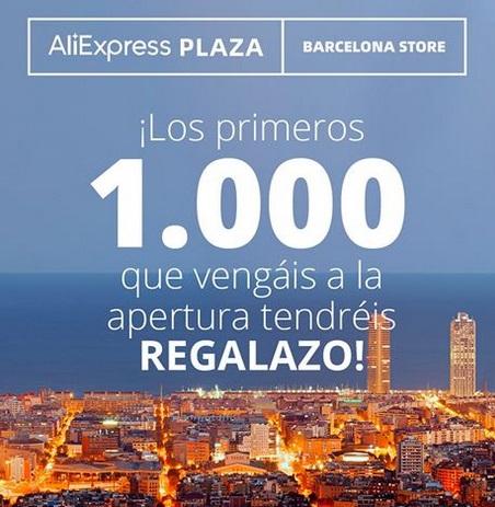 1000 regalos a los primeros 1000. Apertura Tienda ALIEXPRESS C.C. Finestrelles, Barcelona