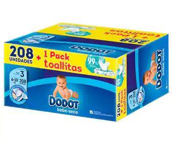 Pañales más toallitas a buen precio