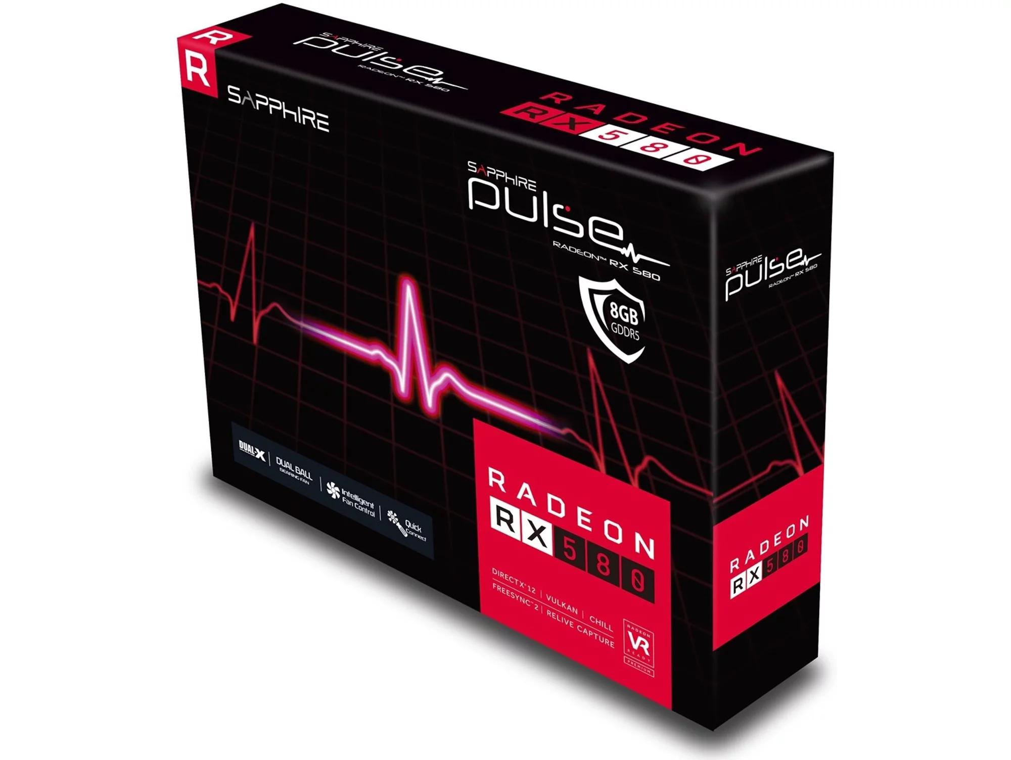 Tarjeta Gráfica AMD SAPPHIRE Radeon RX580 Pulse 8GB GDDR5