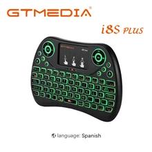 Teclado ergonómico retroiluminado con touchpad GTMedia i8 (versión española)