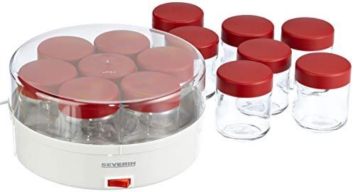 SEVERIN - Yogurtera con 15 tarros de cristal
