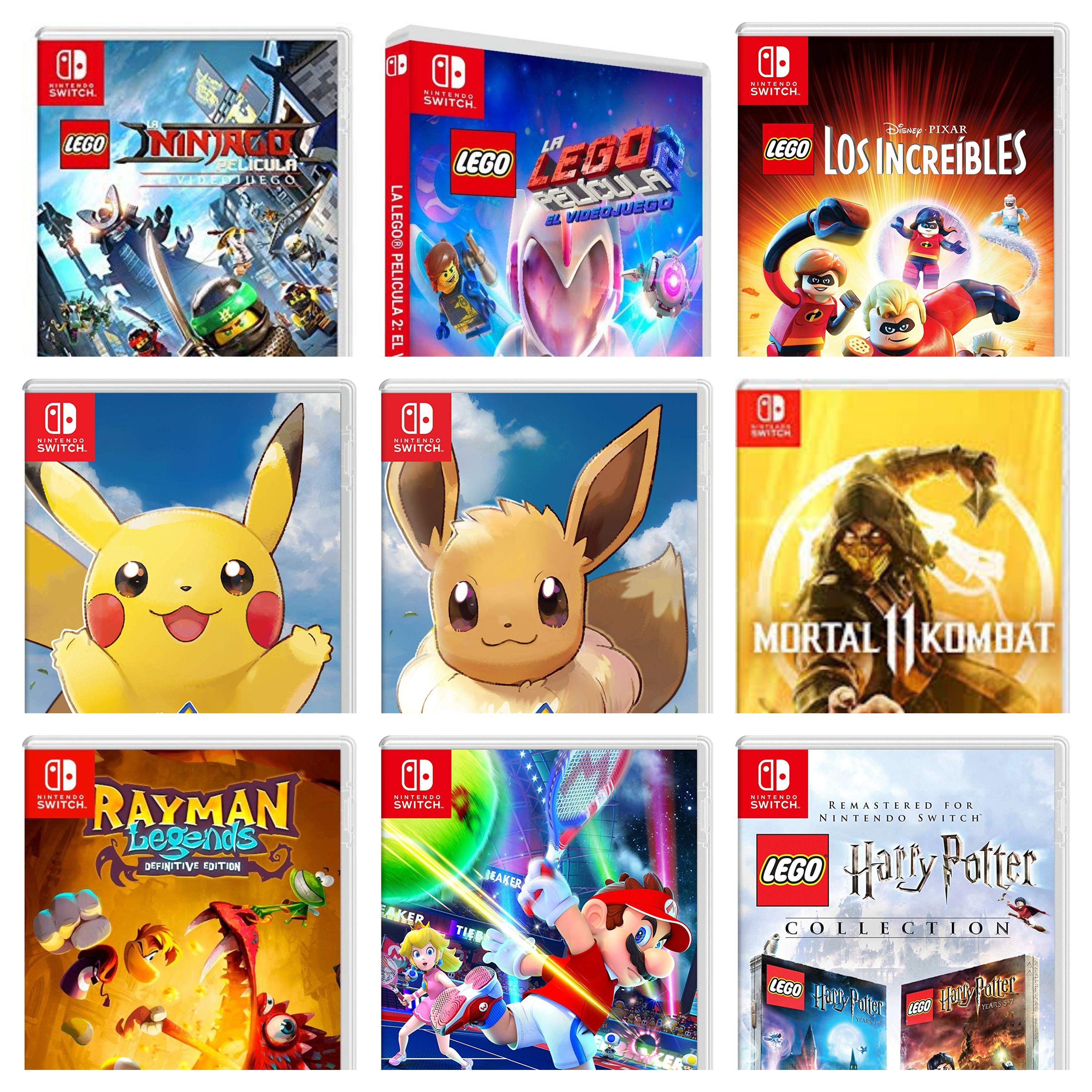 Mortal Kombat 11, Pokemon Eevee o Pikachu, Harry Potter Colección, La LEGO Película 2 y Los Increíbles (Nintendo Switch, AlCampo)