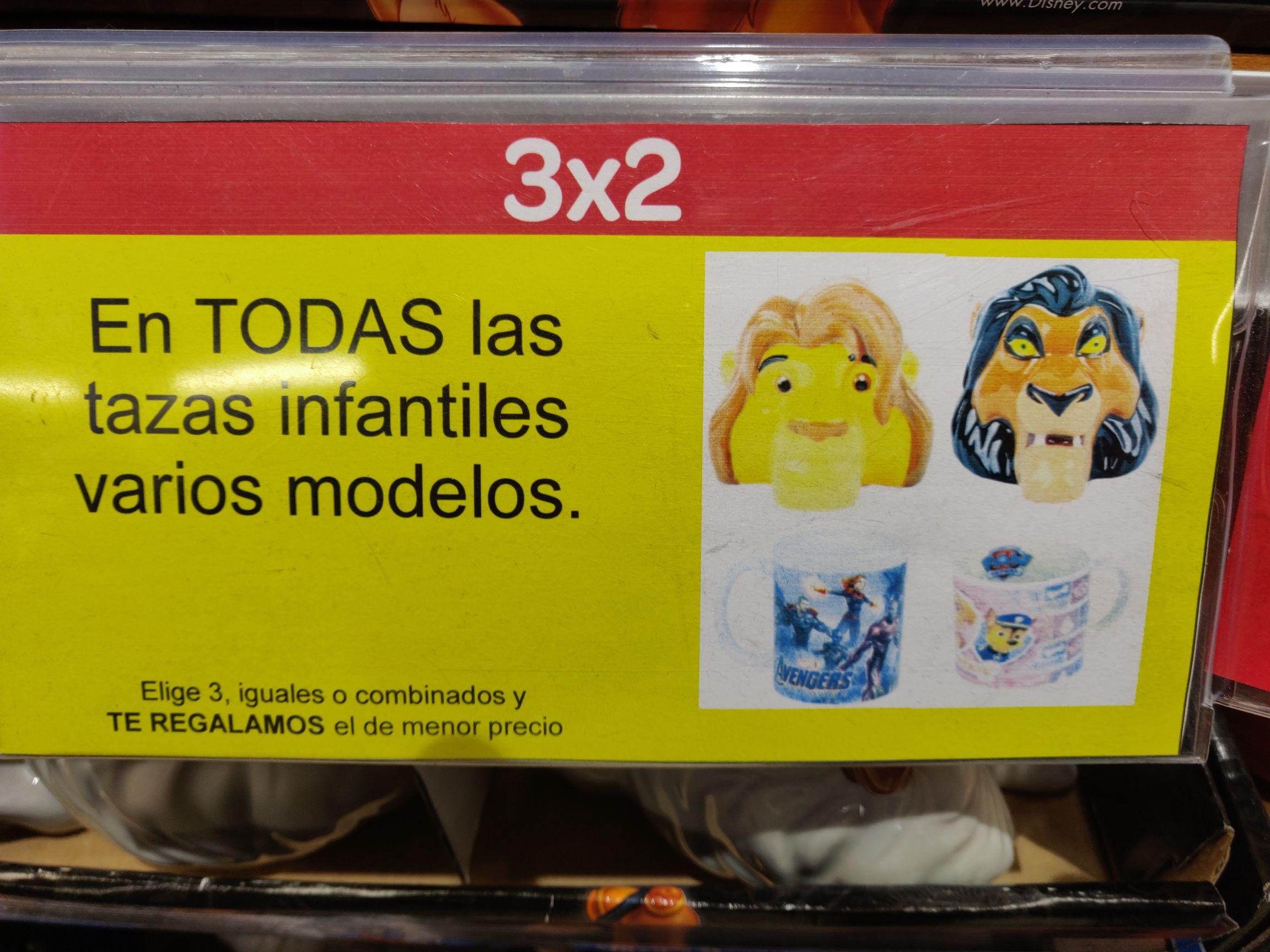 Tazas Disney y Marvel a 2€ (Carrefour Móstoles)