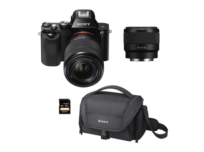 Cámara Evil - Sony Alpha ILCE 7KB, Sensor de 24.3 MP, Full Frame + SEL 28-70 mm + SEL 50mm F1.8