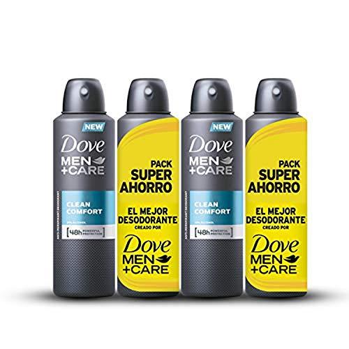 4 Desodorantes Dove Men Clean Confort (4x200ml)