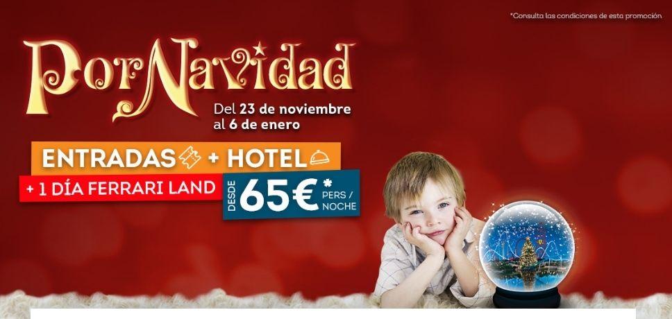 ENTRADA 2 PARQUES 2 días(Portaventura+Ferrari Land) + HOTEL DESDE 65 € PERSONA/NOCHE