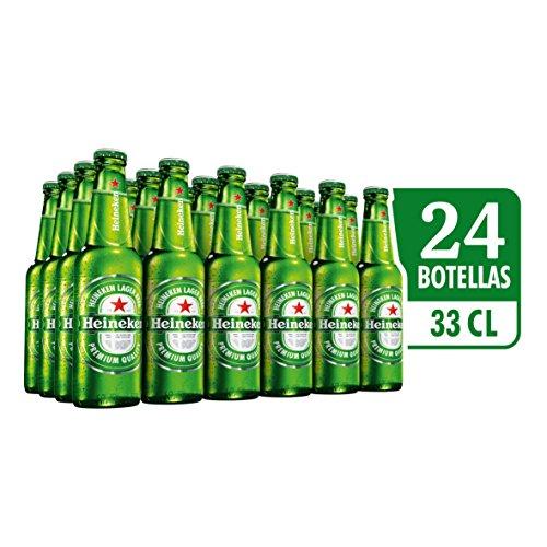 Heineken Cerveza - Caja de 24 Botellas x 330 ml - Total: 7.92 L AMAZON PANTRY