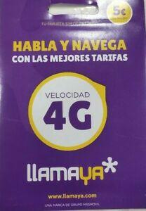 Tarjeta SIM tirada de precio con 5€ de saldo