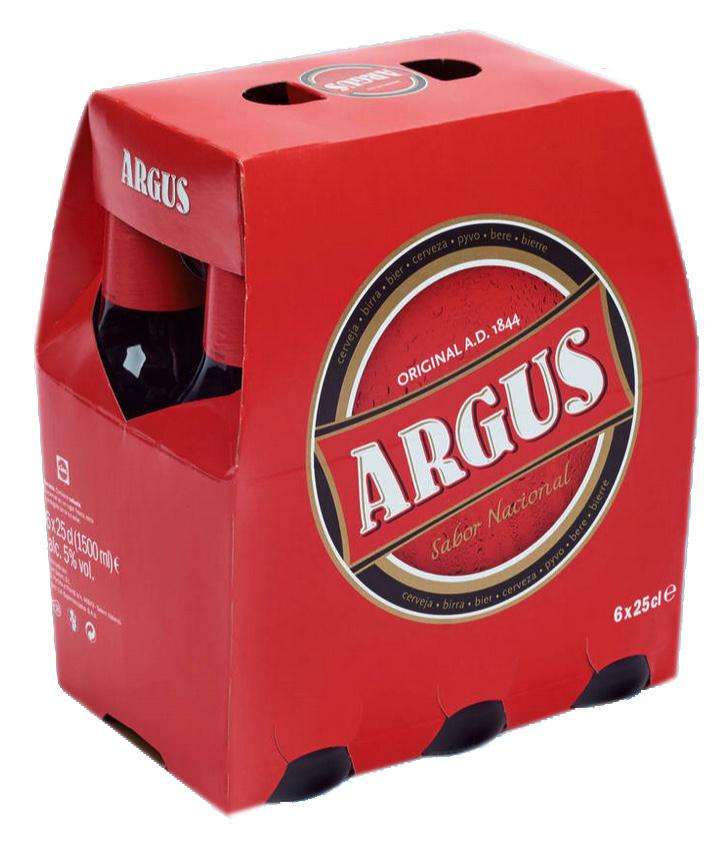 Pack Cerveza Argus botellín 6x25 cl.