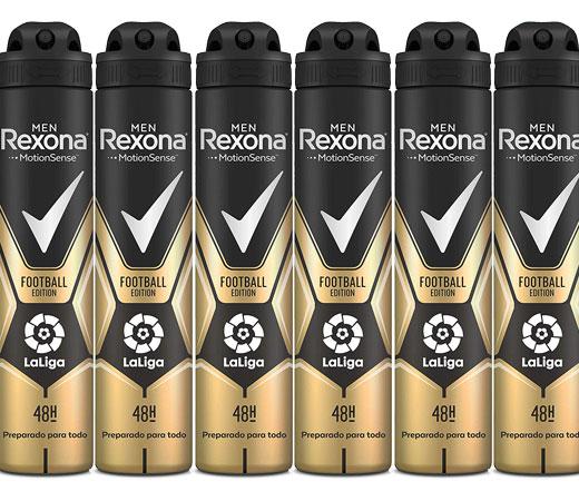 6 Envases de desodorante en spray Rexona Edition Football La liga (6x200ml)