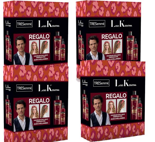 4 packs (12 piezas en total) de Champú, acondicionador y headband para la cabeza Tresemmé