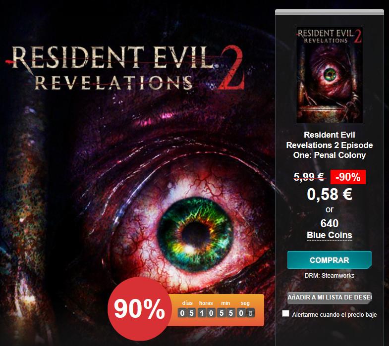 PC (STEAM): Resident Evil Revelations 2 - Episodio 1: Penal Colony por sólo 58 céntimos. Para PS4, PS3 Y XBOX ONE (GRATIS)