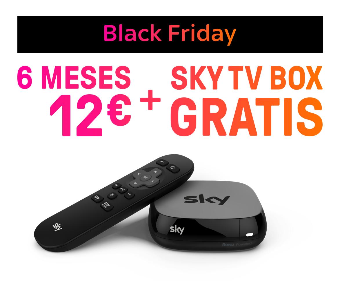 SKY 6 Meses 12€ / 3 Meses 7€ + SKY TV BOX GRATIS