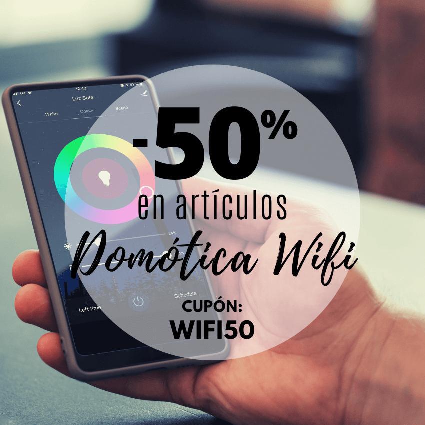 -50% en artículos DOMÓTICA WIFI en orion91