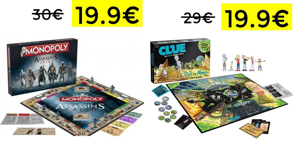 Descuentos juegos de mesa desde 14.9€