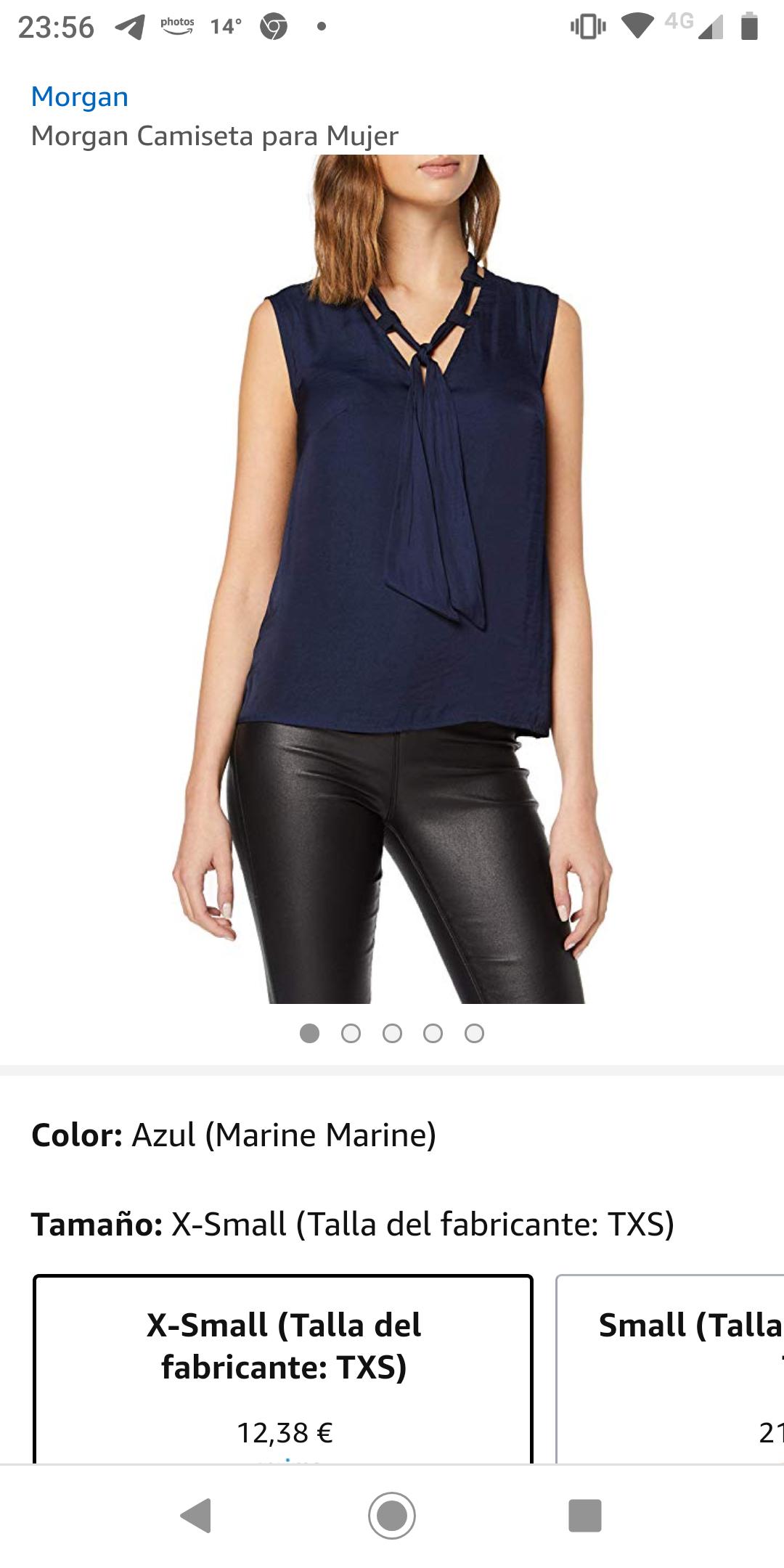 Morgan, camiseta para mujer talla XS